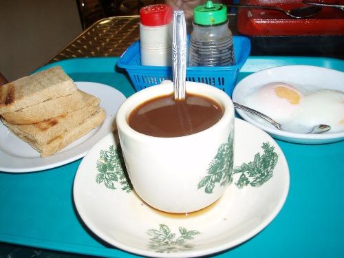 Singapore kopi and kaya toast