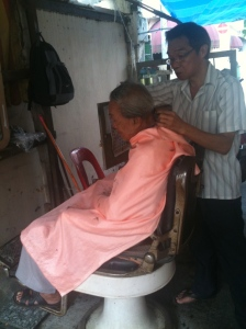 Singapore barber