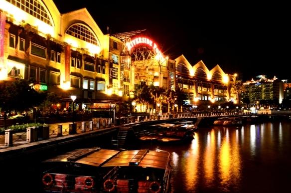 Clarke Quay Night Singapore