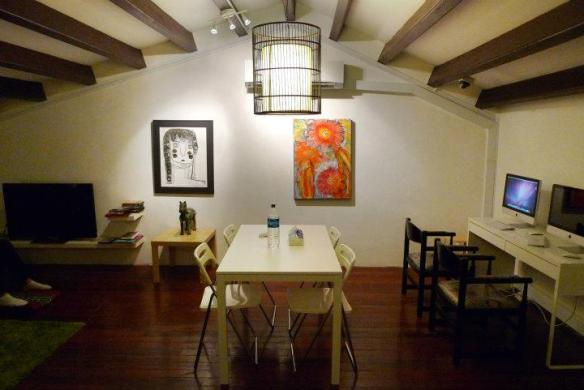 5 Footway Inn Hostel's attic, hang out area for guests
