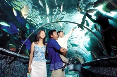 Underwater world at Sentosa Singapore