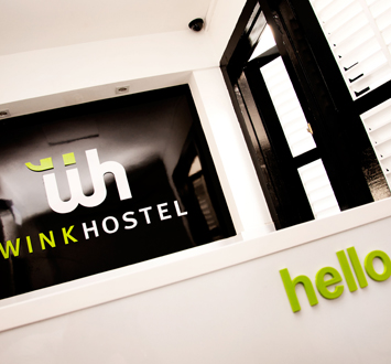 Wink Hostel's reception counter - get your tickets here!