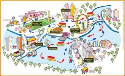 Singapore DUCKtour map